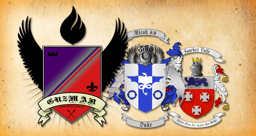 Crest, heraldry and family coat of arms designs | Straight Path Designs